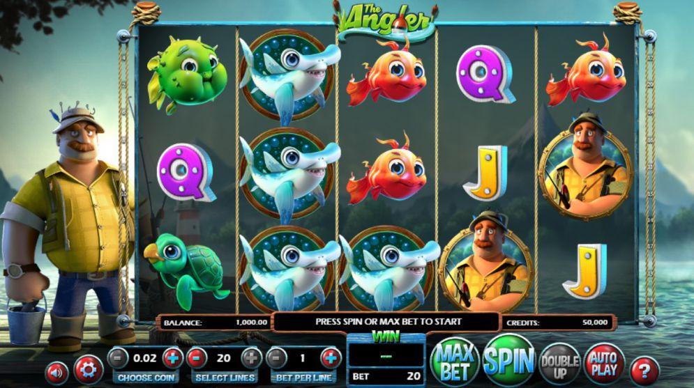The Angler grafički interfejs igre