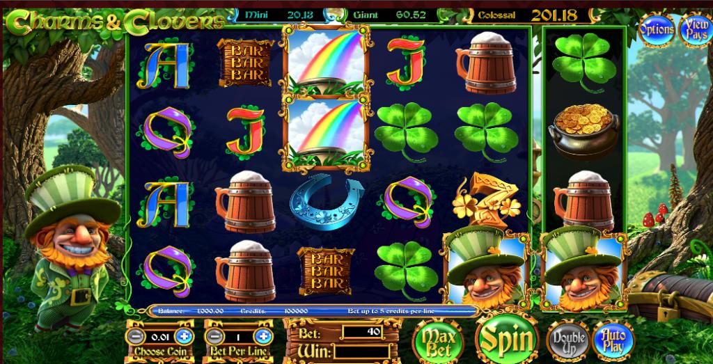 Charms & Clovers grafički interfejs igre