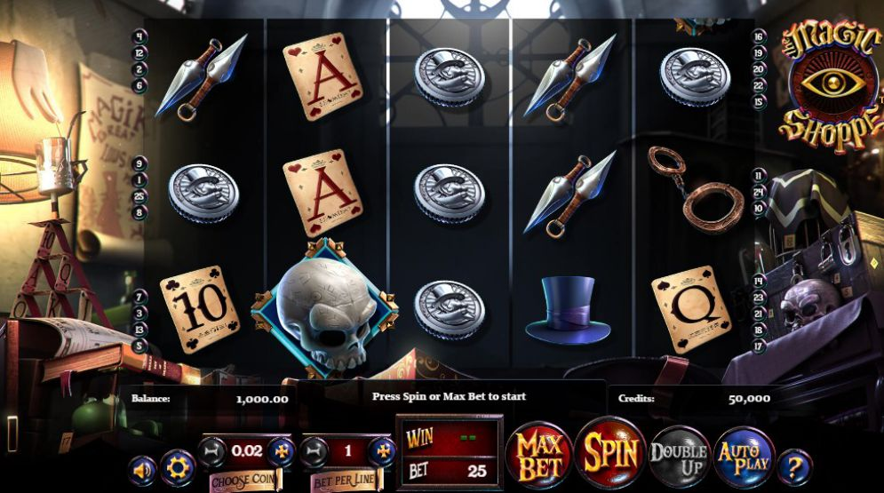 Magic Shoppe grafički interfejs igre
