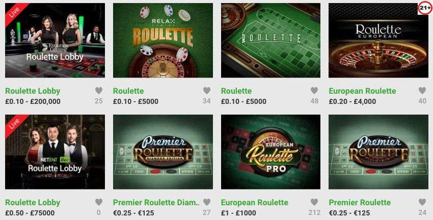 Unibet kazino igre