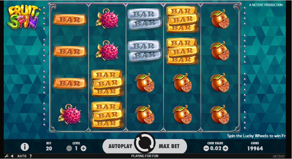 Fuit spin grafički interfejs online slot voćkice