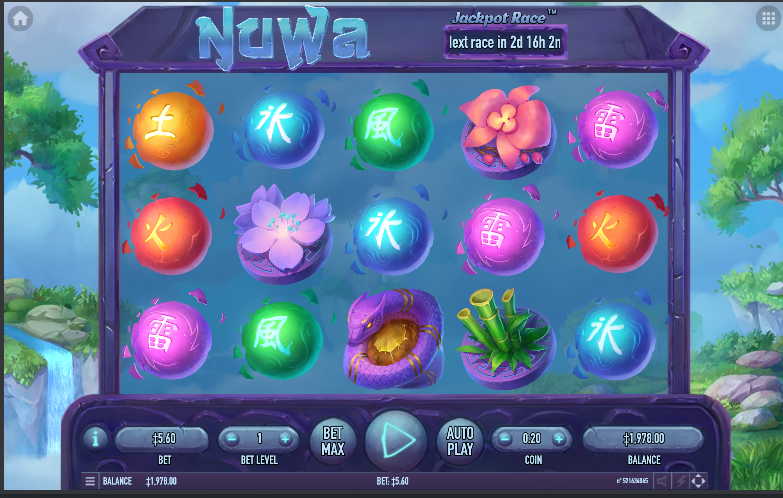 Nuwa - grafički interfejs slot video igre