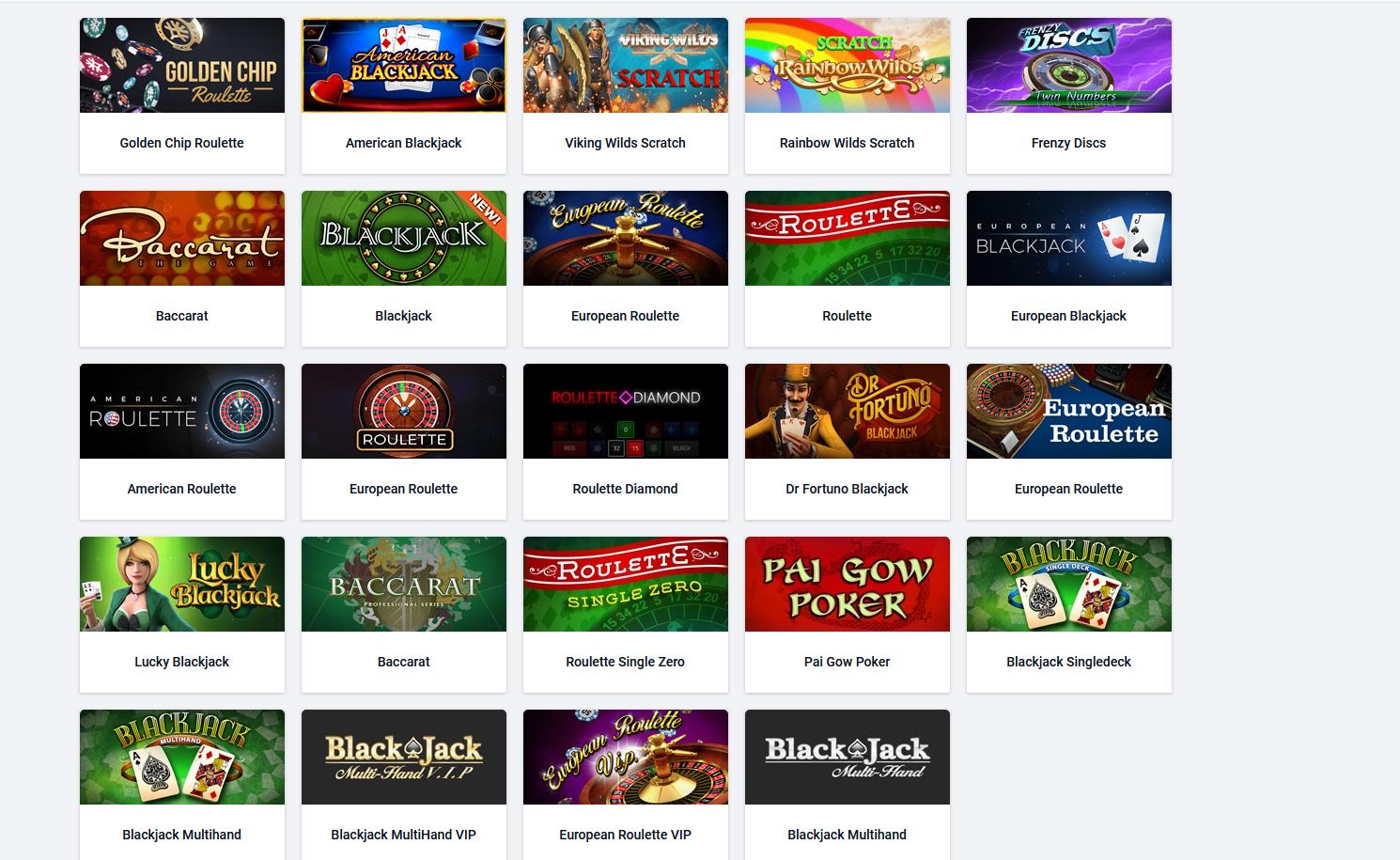 Pinnacle kazino - igre za stolom