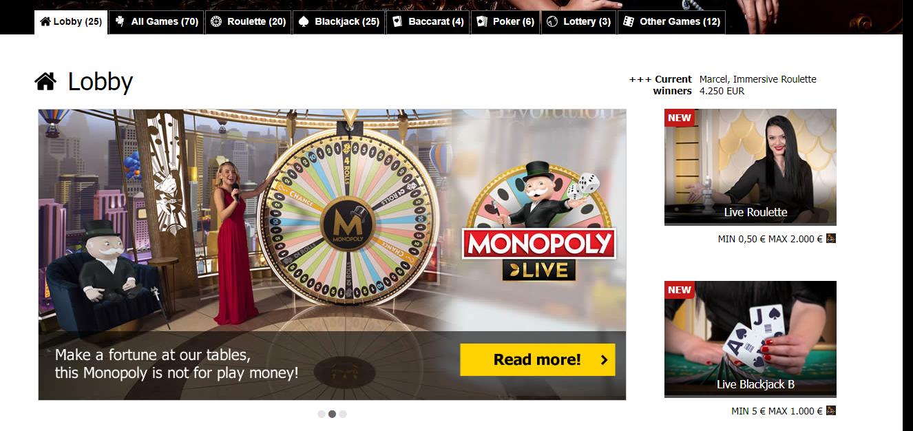 Interwetten kazino uživo