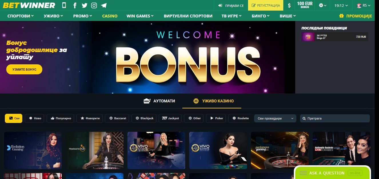 Betwinner kazino