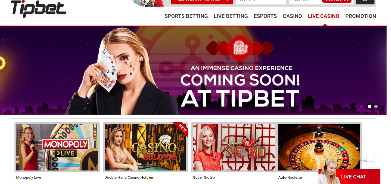Tipbet kazino uživo